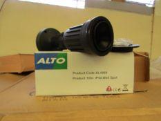 4 x Alto - Outdoor IP44 Wall Spot Light Suitable for Highligthing Garden, Patio, etc adjustable &