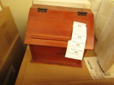 4 x Vintique Wise - Small Brown Recipe Boxes - New & Boxed.
