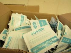 500 x Sachets Tutumpee +U+UM Single Use - Sanitising Wipes - New & Boxed.