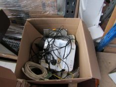 Box of approx 6x various electricals, all unchecked and missing parts.