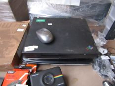 4x Various laptops with a mouse, all unchecked for faults, damage and missing parts.