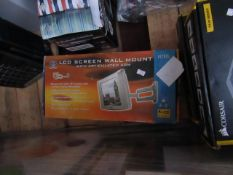 B Tech LCD screen wall mount, unchecked and boxed.