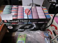 Russell Hobbs Easy Store Pro Fast Fill steam iron, unchecked and boxed.