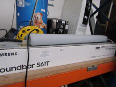 Samsung Soundbar S61T, tested working but crackles at certain volumes and boxed. RRP £349.99