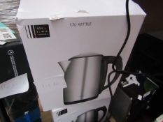 John Lewis 1.7L kettle, unchecked and boxed.