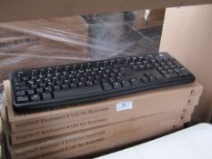 7x Logitech K120 for business keyboards, unchecked and boxed.