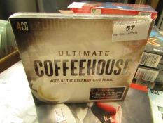 Ultimate Coffee House - 4CDS of The Greatest Café Music - Unused & Sealed.