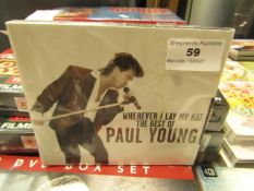"""Paul Young - """"Wherever I Lay My Hat"""" 2 CDS Set - Unused & Sealed."""