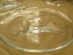 5x Large Clear Glass Plate - Unused & Good Condition.