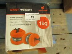 | 1x | NEW IMAGE WRIST WEIGHTS 2X 1KG | UNCHECHED & BOXED | SKU - | RRP £- |