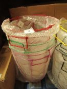6x Tiger - Small Wire Basket's (4 Assorted Colours) - All Unchecked & Boxed.