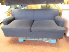 | 1X | MADE.COM ORSON 3 SEATER BLUE FABRIC SOFA BED | COULD DO WITH A CLEAN IN PLACES, THE BED