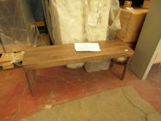 | 1X | SWOON BJORN DINING BENCH, BRASS & SANDBLASTED GREY MANGO WOOD | THE WOOD AT THE FRONT HAS