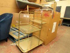 | 1X | COX AND COX LANES BOROUGH DRINKS TROLLEY | THE MIRROR PIECE IS DAMAGED | RRP œ399.95 |