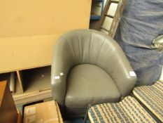 Natuzzi swivel armchair, unchecked