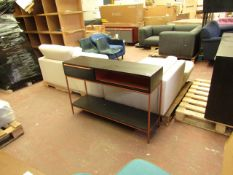 |1x | MADE.COM ANDERSON CONSOLE MOCHA MANGO WOOD & COPPER | GOOD CONDITION, JUST A COUOPKLE OF SMALL