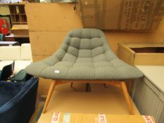| 1x | MADE.COM KOLTON ACCENT CHAIR IN GREY | LOOKS TO BE IN VERY GOOD CONDITION WITH BOX | RRP œ449