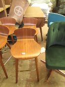 | 1X | MADE.COMSET OF 2 ELDERWEISS BAR STOOLS| A FEW MARKS AND APPRAERS TO HAVE A FLAW IN THE WOOD
