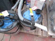 2x VacKing - Ash Vacuum Cleaner 1200, This lot is a Machine Mart product which is raw and completely