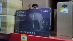 50pcs - Sealed Belkin AC1750 Dual Band WiFi Gigabit Moden Router Euro Plug - Unchecked Untested in
