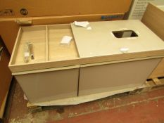 Geberit Citterio vanity unit for washbasin oak beige, 118.4 x 54.3 x 50.4cm, new and boxed. RRP £