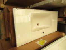 Vitra Integra vanity basin 100cm, new and boxed. RRP £313.99