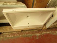 Vitra Lavabo 60cm 1TH basin, new and boxed.