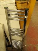 Loco straight towel rail 300 x 1000, ex-display. Please note, this lot may contain marks, missing