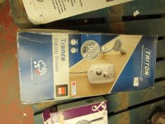 Triton Trance electric shower, unchecked and boxed.