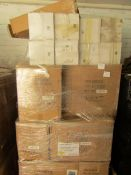 A Pallet of approx 12x boxes of 24 themed water features, look unused