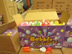 2 x Boxes of 48 per box The Bubble Writers Pens - Boxed.