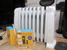 Delonghi Small electric oil filled radiator, tested working
