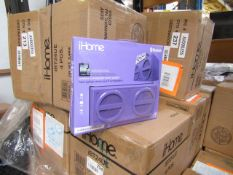 4x iHome Wireless rechargable Stereo speaker with rubberized finish, new and packaged