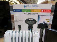 Singing Machine WiFi karaoke pedestal, appears to be new / unused (no guranatee), boxed. RRP