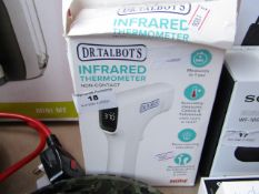 Dr Tablots Infrared Thermometer, unchecked and boxed