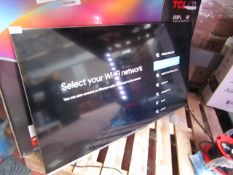 """TCL 50C715K 50"""" 4K UHD QLED TV, Tested working as in it comes on and displays a picture, we haven'"""