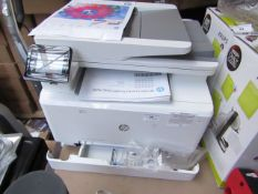 HP Colour Laser jet Pro MFP M283fdw, we have powered it ono and have complete a test print which was