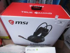 MSI DS502 Gaming headset, unchecked and boxed.