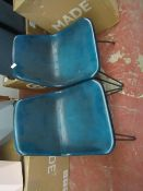| 1X | MADE.COM SET OF 2 KENDAL DINING CHAIRS DARK GREEN & BRASS | MAY HAVE SCRATCHES AND MARKS &