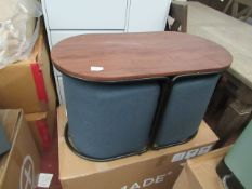 | 1X |MADE.COM MARADE TABLE & OTTOMAN SET AEGEAN BLUE | LOOKS UNUSED BUT HAS A SCRATCH ON THE