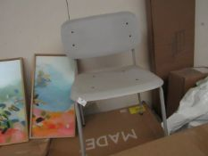 | 1X | MADE.COM SITTING CHAIR TABLE CHAIR LIGHT GREY | UNCHECKED & UNBOXED | RRP- |