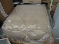 | 1X | MADE.COM LARGE FLOOR CUSHION OATMEAL COTTON SLUB | UNCHECKED & BOXED | RRP £149 |