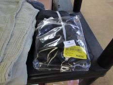 | 1X | MADE,COM BRISA 100% LINEN PAIR OF PILLOWCASES, BLACK | DAMAGE TO PACKAGING & LOOKS UNUSED |