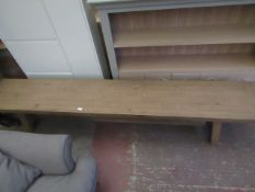 | 1X | MADE.COM WOODEN BENCH, 240cm x 40cm | LOOKS UNUSED (NO GURANTEE) & NO PACKAGING | RRP - |