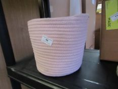 | 1X | MADE.COM PINK STORAGE BASKET (SEE IMAGE FOR DESIGN) | LOOKS UNUSED & NO PACKAGING | RRP - |