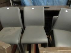 2x Dwell grey dining chairs, cople of small marks and scratches, RRP £99