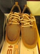 Skechers Classic fit air cooled ,memory foam Heston Sendo dark brown shoes size 8 new and boxed