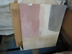 | 1x | COX & COX BLUSH CUBIC ABSTRACT PRINTED CANVAS'S SET OF 2 50X60CM | GOOD CONDITION HOWEVER