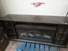 | 1x | COSTCO LARGE ELECTRIC FIREPLACE UNIT with Remote Control, the Fire Effect, Fan Colour