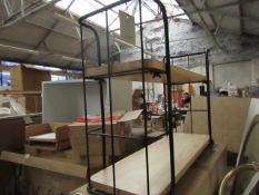 | 1X | COX & COX INDUSTRIAL WOOD & METAL SHELF UNIT - SMALL | UNCHECKED & BOXED | RRP £135 |